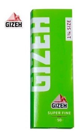 Papel Gizeh Verde Super Fine Size: 1 1/4