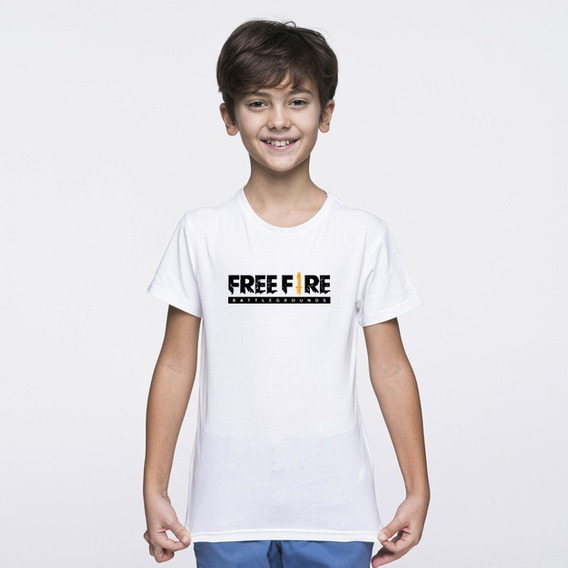 Remera De Free Fire Para Niños Sublimada Estampada