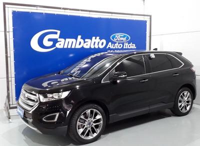 Ford Edge Titanium 2016 Preta Gasolina