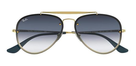 Óculos Rayban Rb3584n 91400s Blaze Aviador Azul Esp Degradê