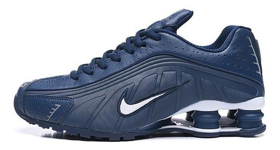 Zapatillas Nike Shox R4 Azul Acero 40/45