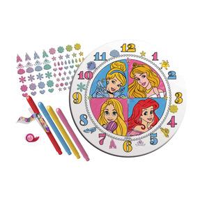 Conjunto De Artes - Relógio Para Colorir - Disney - Princesa
