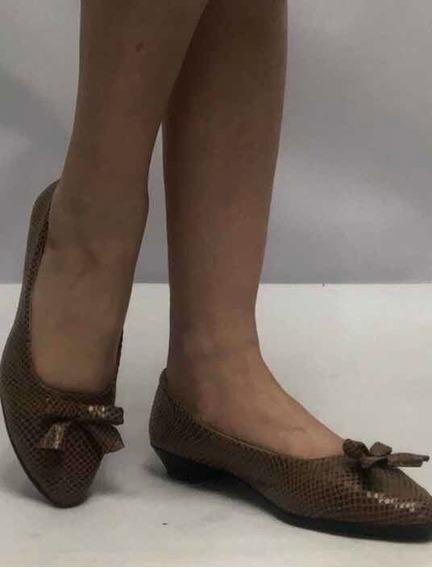 Zapatos Chatitas Mujer Nro 36 Ecocuero Perfectas Como Nueva