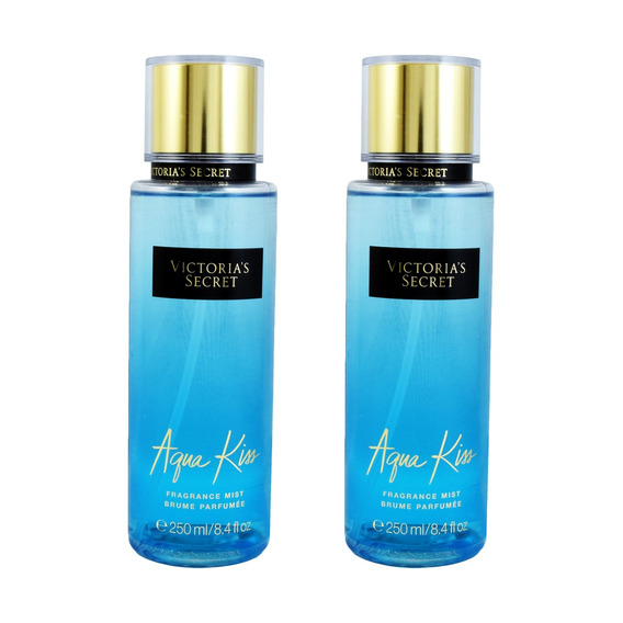 Paquete 2x1 Victoria Secret Aqua Kiss Body Mist 250 Ml De Vi