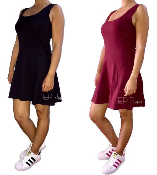 Vestido Corto Falda Rotonda Juvenil Moda Casual Envío Gratis