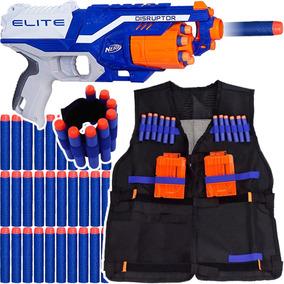 Arma Nerf Disruptor + Colete + Pulseira +30 Dardos Brinquedo