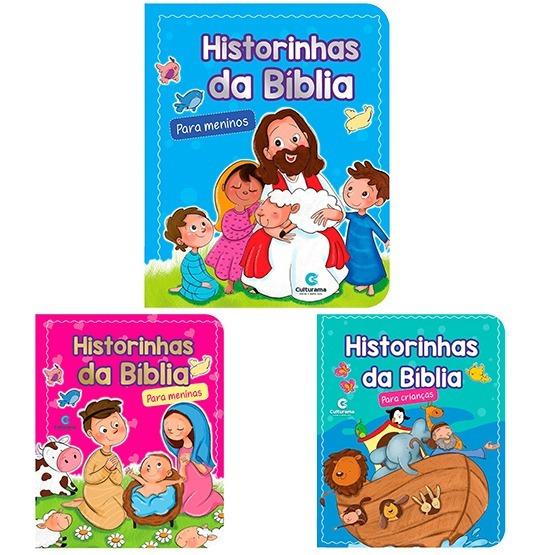 Livro Historinhas Da Biblia Para Criancas / Meninos / Menina