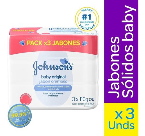 Jabon Johnsons Baby Original Cremoso X 110g X3und