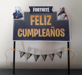 Topper Para Torta Fortnite Centro De Torta Pincho Adorno