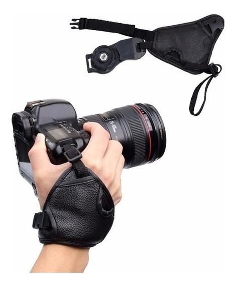 Alça De Punho Mão Universal Câmera Slr Dslr Couro Qualidade