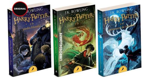 Harry Potter Tomos 1 2 Y 3 - J K Rowling - 3 Libros Bolsillo
