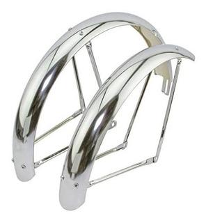 Juego Guardabarros Bicicleta Playera 26 Cromados Importados