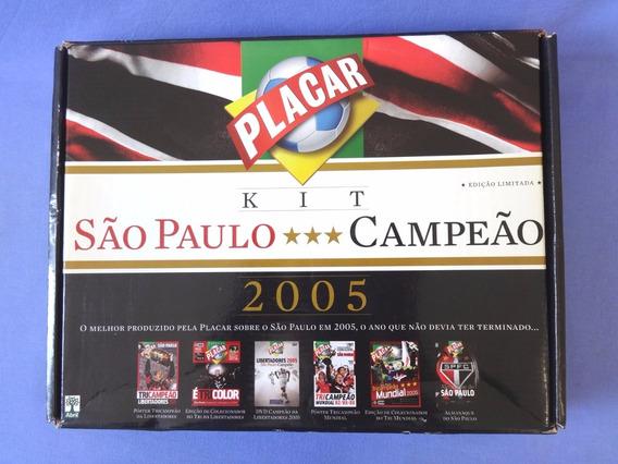 Kit São Paulo Campeão 2005 Placar - Completo Na Caixa