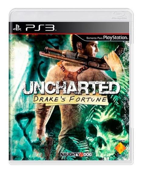 Jogo Uncharted Drakes Fortune - Ps3 Mídia Física Usado