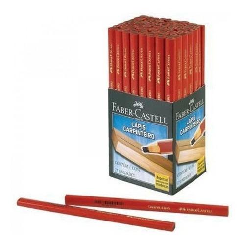 Lápis De Carpinteiro Faber Castell 72 Unidades