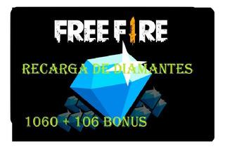 Recarga De Diamantes Free Fire 1060 + 106 Bonus