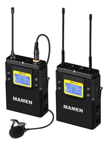 Microfone Mamen Sem Fio P/ Dslr - Lapela Wmic01 Profissional