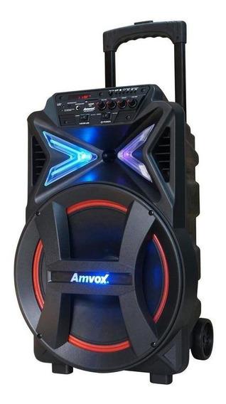 Caixa de som Amvox ACA 292 NEW X portátil sem fio Preto 110V/220V