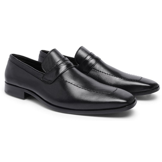 Sapato Social Masculino Couro Carneiro T09014 - Frete Grátis