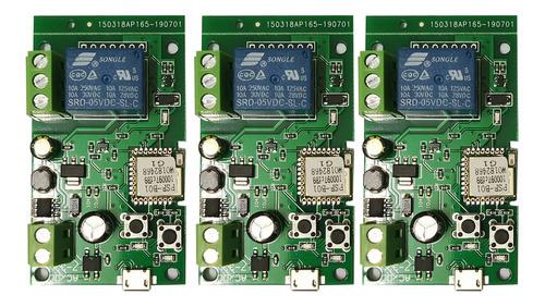 Imagen 1 de 9 de 3 Piezas Ewelink Dc5v 12v 24v 32v Wifi Interruptor Relé Inal