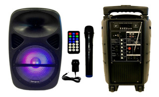 Bafle Karaoke Portatil Bluetooth Usb Sd Radio Fm Luces Led! Bateria Recargable Cuotas