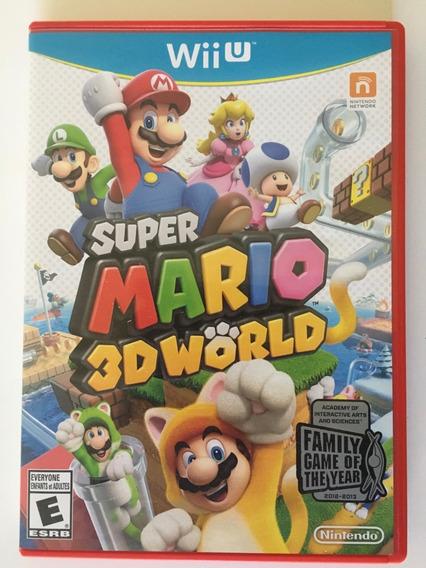 Super Mario 3d World Wii U Original Americano Mídia Física