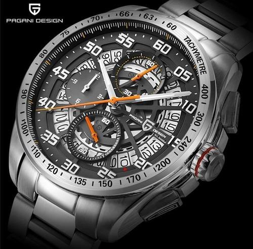Relógio Masculino Pagani Design Date Aço Inoxidável M Pd2764