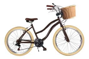 Bicicleta Retrô Alumínio Cestinha Bike Vintage Retro