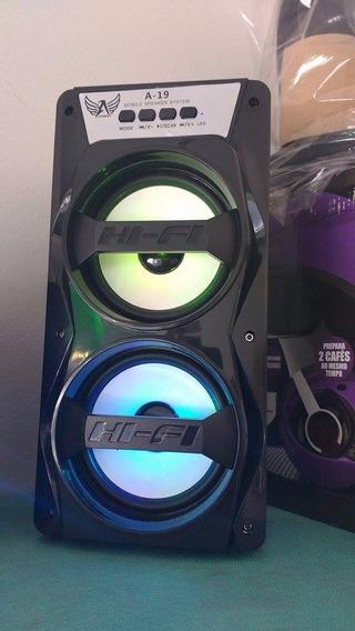 Caixa De Som A19 Com Bluetooth Potencia 8w Linda E Moderna