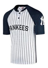 Playera Beisbol Hombre Yankees Ny Majestic Mffs796 Blanca S4