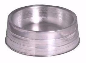 Comedouro De Alumínio Polido Pesado Mini