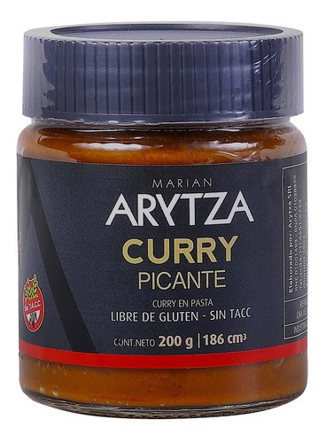 Curry Picante Gourmet Arytza 100% Natural - Sin Tacc