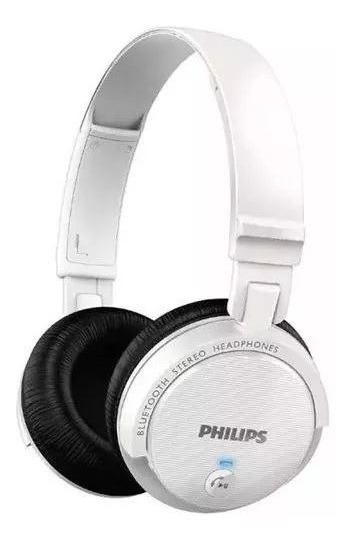 Fone Philips Hb-5500wt Bluetooth Microfone Branco Shb5500wt