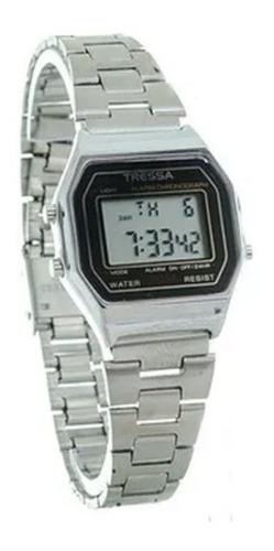 Reloj Tressa Vintage Plateado Digital Modelo Grappa M