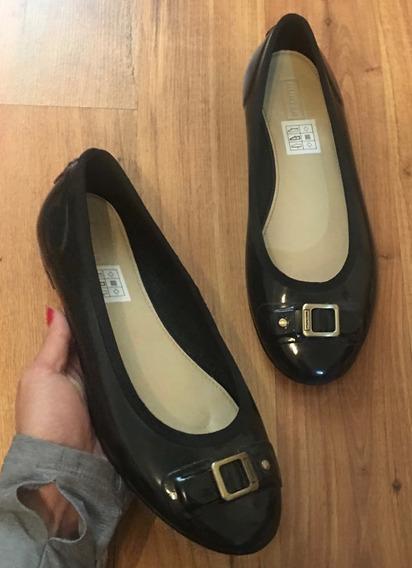 Preciosos Zapatos Flats Hunter Lluvia Negros 25 Originales!!
