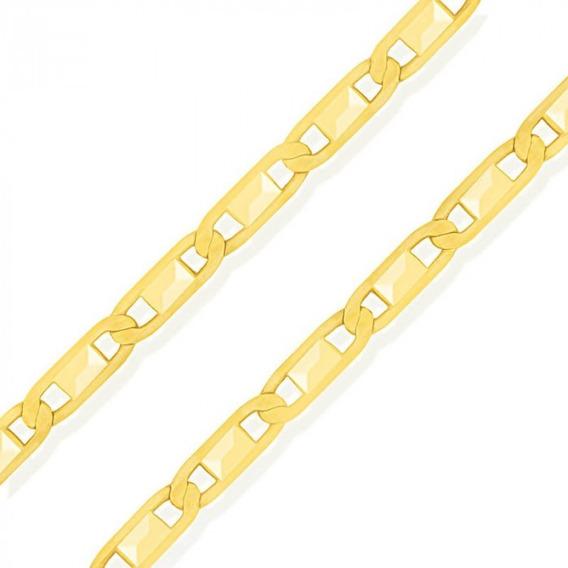 Corrente De Ouro 18k Piastrine 60cm 2mm Mlc25