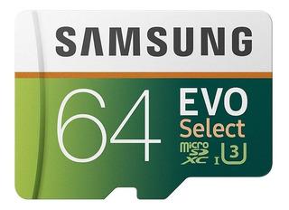 Samsung Evo Select Memoria Micro Sd 64 Gb Clase 10 Uhs 3