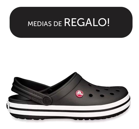 Crocs Crocband Originales Black White+ Medias De Regalo