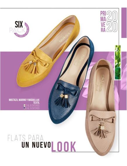 Zapatos Combo Flats 3 Pares Dama Cklass