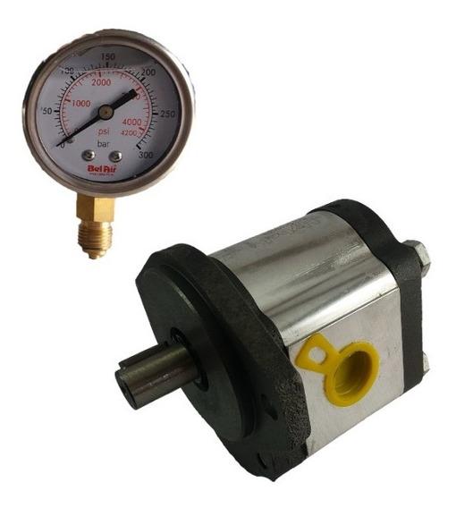 Bomba Hidráulica Industrial S11 Prensas+ Manometro 0-300 Bar