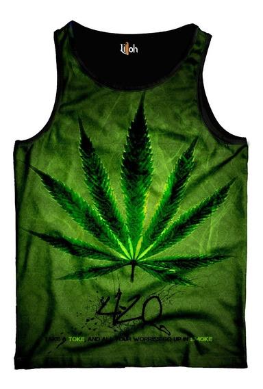 Camiseta Regata Cannabis Erva Maconha Chá