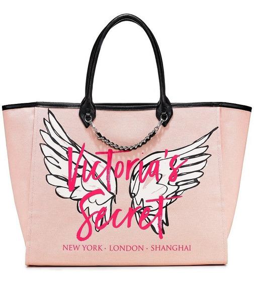 Bolsa Victorias Secret Original City Angel Tote Importada Da Loja Nova Etiqueta Lona Grande Pronta Entrega Garantido