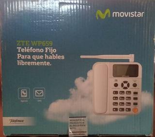 Telfono Fijo Movistar Zte Wp 659 Blanco Nuevo De Paquete