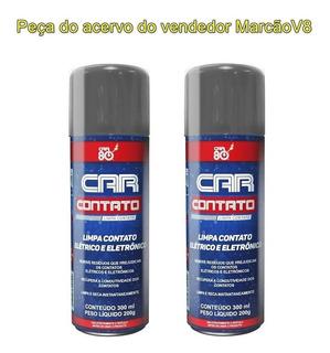 2 Car 80 Contato Spray Limpa Contato Elétrico E Eletrônico