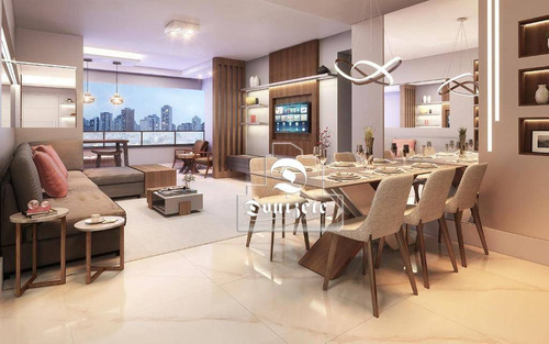 Apartamento Com 3 Dormitórios À Venda, 135 M² Por R$ 1.187.000,00 - Vila Assunção - Santo André/sp - Ap15871