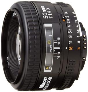 Lente Objetivo Nikon 50mm Af 1.4 D Nuevos Alta Velocidad
