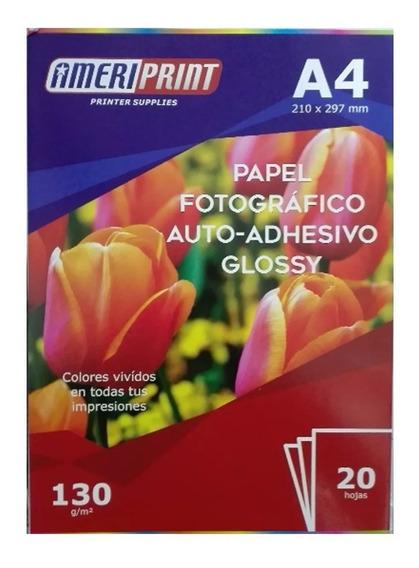 Papel Fotográfico Auto Adhesivo 130g A4 20 Hojas