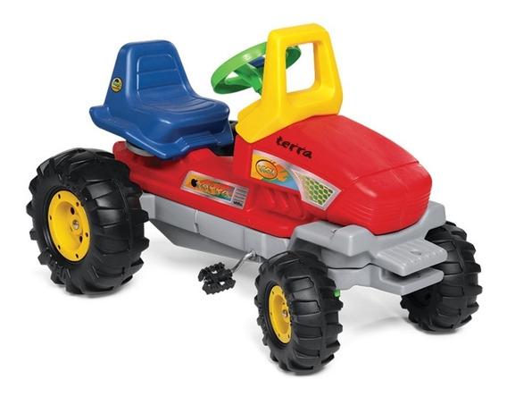 Tractor Gigante Terra Vegui Pedal A Cadena Direccion Juguete
