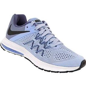 Tênis Nike Zoom Winflo 3 Feminino Azul Tam 35 Frete Grátis