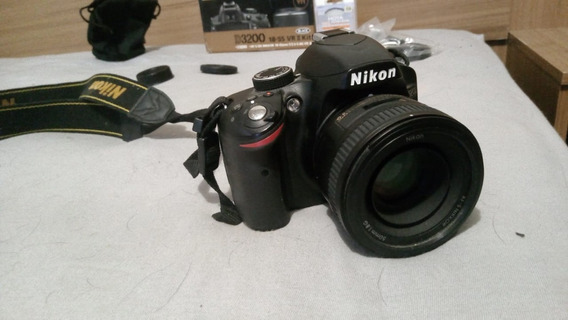 Câmera Nikon D3200 + Lente Nikkor 50mm 1.8g + Tripé